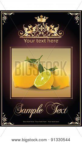 ripe, tasty lemons. beautiful label