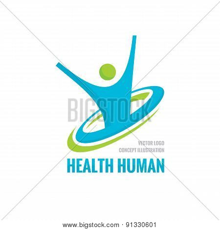 Health human - vector logo concept illustration.