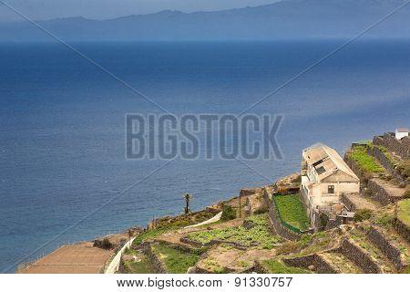Coastal landscape on Gomera Island, Spain