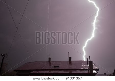 Lightning Over The House