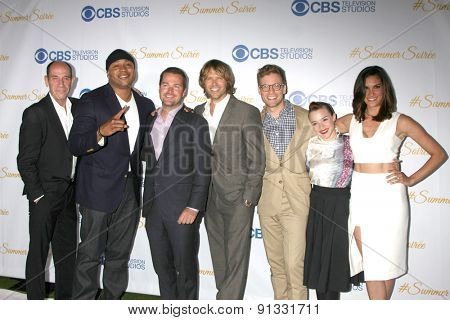 LOS ANGELES - MAY 18:  NCIS: LA Cast at the CBS Summer Soiree 2015 at the London Hotel on May 18, 2015 in West Hollywood, CA