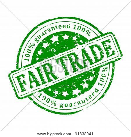 Damage To The Green Stamp - Fair Trade