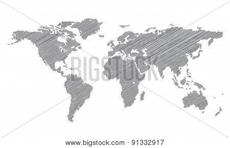 Stylized map of the world