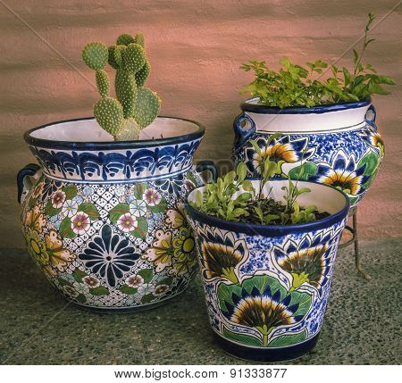 Colourful Mexican Planters