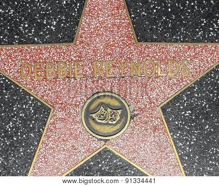 Debbie Reynolds Star On Hollywood Walk Of Fame