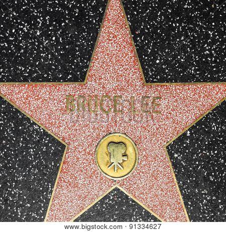 Bruce Lees Star On Hollywood Walk Of Fame