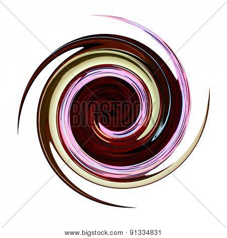 Spiral twisting rotation. Abstract illustration.