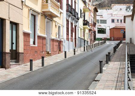 Scenic housing facades on Gomera island, Spain