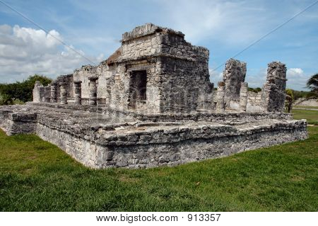 Ancient Mayan Building