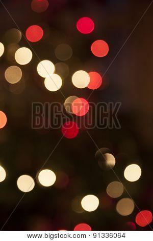 Christmas Tree With Lights - Bokeh