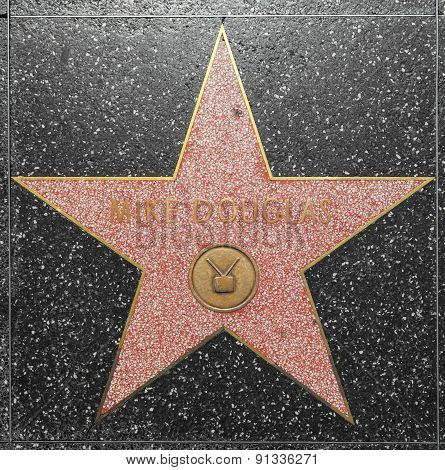 Mike Douglas Star On Hollywood Walk Of Fame