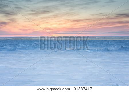 sunrise over the ice