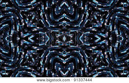 Geometric Futuristic Seamless Pattern