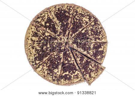 Sliced Chocolate Cheesecake