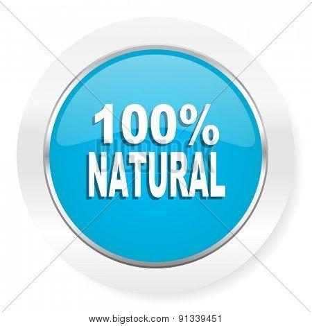 natural icon 100 percent natural sign