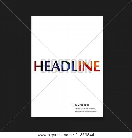 Flyer or Cover Design Set for Your Business with Colorful Headline Text