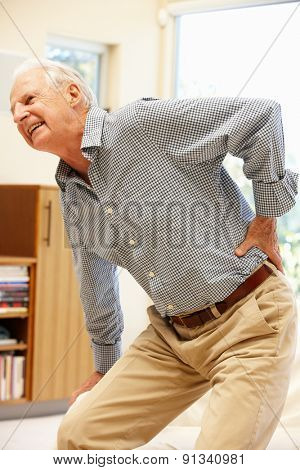 Senior man with backache