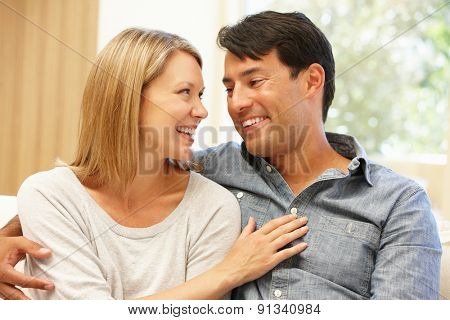 Couple at home portrait