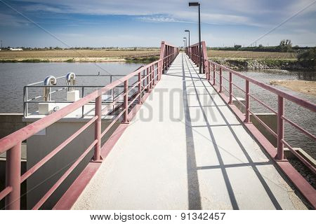 weir bridge over Sorraia river - Coruche, Portugal
