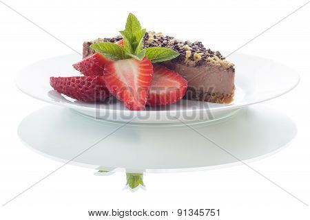 Chocolate Cake With Reflection