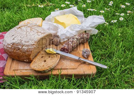 Picnic On A Farm