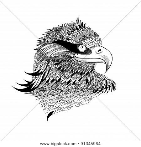 Graphical Eagles Head