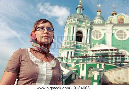 Woman against the church.