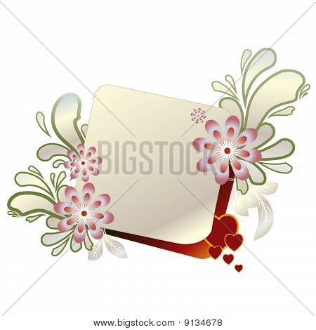 Farame Whit Flowers