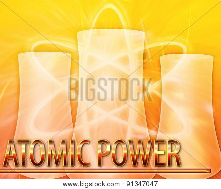 Abstract background digital collage concept illustration atomic power nuclear