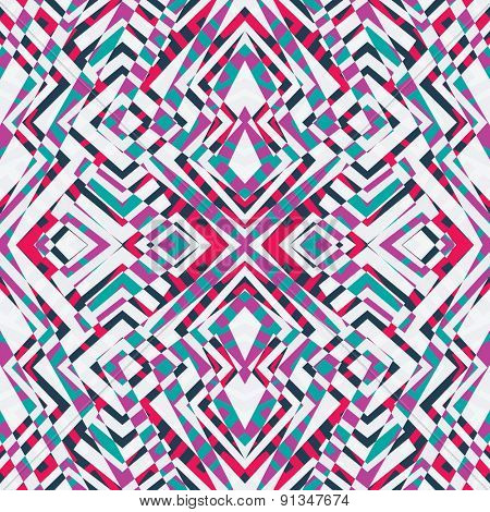 tribal psychedelic seamless pattern