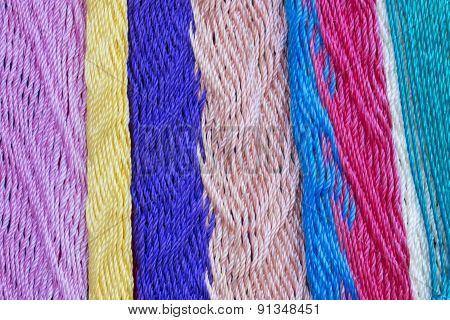 Colorful Mexican Hammock Weave Closeup