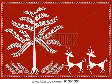 ' Wall Art ' Ancient Indian Art - WARLI