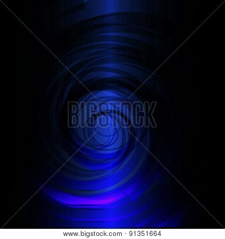 Dark Blue spiral background design template