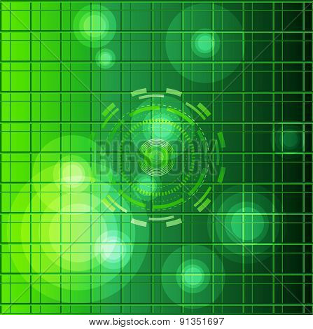 Green Abstract  background grid circle design template