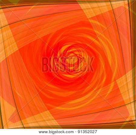 Twist Abstract orange background design template