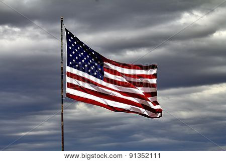 Us Flag Flying