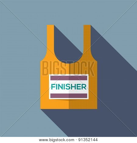 Finisher Singlet Of Marathon Runner.