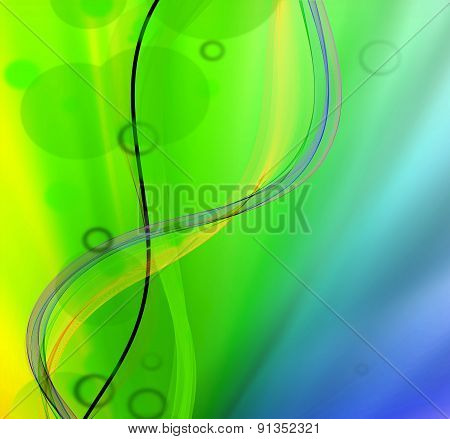 Abstract wave light background design illustration template