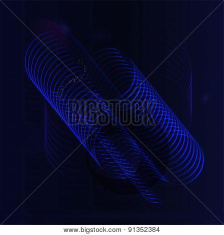 Dark blue light effect background
