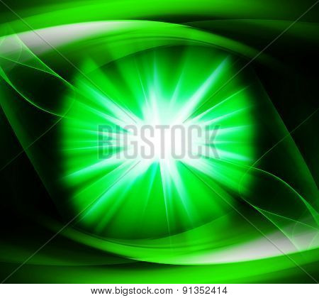 Green color design with a burst design illustration template