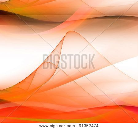 Orange Soft wave gradients and effects background
