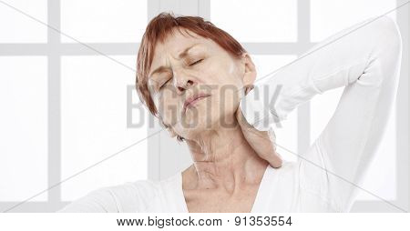 Sixty years woman with neck pain