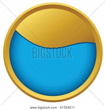 Abstract wave emblem