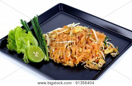 Thai Food Pad Thai , Stir Fry Noodles Isolated