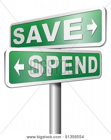 Saving plan bank deposit spend or save money