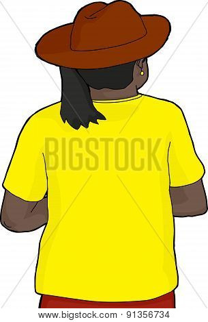 Black Woman With Cowboy Hat