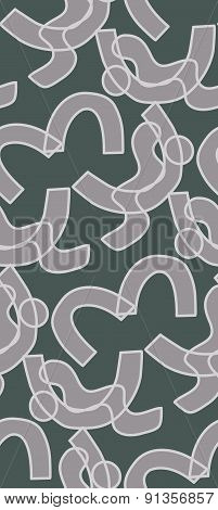 Gray Shapes In Pattern