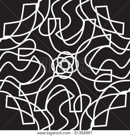 White And Black Kaleidoscope Pattern