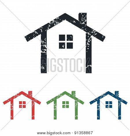 Cottage grunge icon set