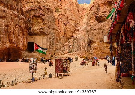 Jordan, Petra, Sale Of Souvenirs